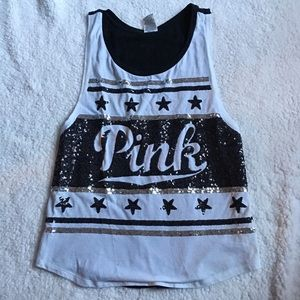 Pink 4th July Sequin Tank